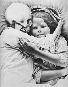 """Laurie Lipton """"Death and the Maiden"""""""