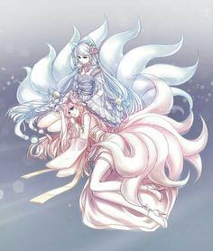 Commission: Sundropxx by omocha-san on deviantART Kitsune Anime Fantasy, Character Art, Cute Pokemon, Fantasy Art, Anime Wolf, Anime Animals, Kawaii Anime, Anime Drawings, Fox Art