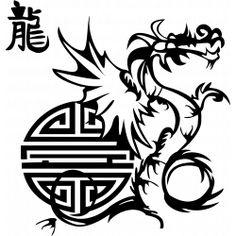 Sticker Symbole du Dragon