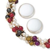 Found it at Wayfair - Goldtone Simulated Cultured Pearl Jewelry Set
