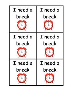 image relating to Break Cards for Students Printable titled 12 Ideal Head Breaks photographs within 2018 Patterns, Clroom