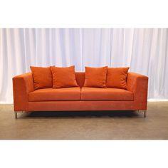 Decenni Custom Furniture 'Divina' Endurance Mandarin Orange Modern Sofa