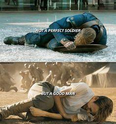 Not a perfect soldier, but a good man. Steve Rogers Chris Evans Captain America #mcu pinterest: katepisors