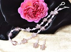 Rose Quartz & Murano Glass Stars Jewellery Set £62.85