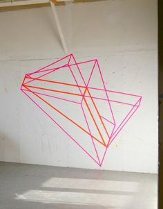 Shapes made with tape
