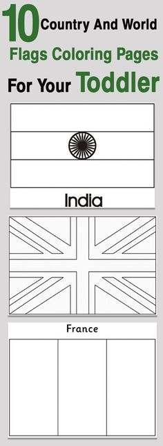 top 10 country and world flags coloring pages for your toddler