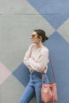 (Knit: & Other Stories , Jeans: ASOS , Shoes: Oliver Bonas , Bag: Mansur Gavriel , Sunglasses: C/O Warehouse ) I'm pretty sure it co...