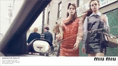 """Miu Miu F/W15 campaig"", Stacy Martin, Mia Goth, Hailey Gates, and Maddison Brown by Steven Meisel, Fall 2015"