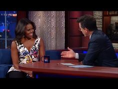 Michelle Obama Stuns In Peplum Top On 'The Late Show' [Video]