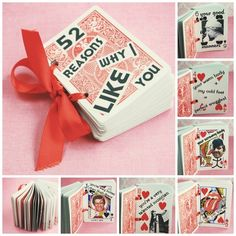 Diy & Crafts, Diy Crafts Gallery 52 Reasons Deck | 40 Unconventional DIY Valentine's Day Cards do it yourself gallery.
