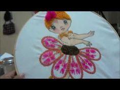 bordado fantasia paso a paso nena hoja crisantema marimur 698 - YouTube