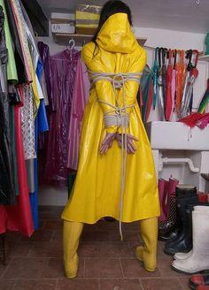 Pvc Raincoat, Plastic Raincoat, Submissive Wife, Wellies Rain Boots, Latex Costumes, Rubber Raincoats, Rain Gear, Women Ties, Shopping