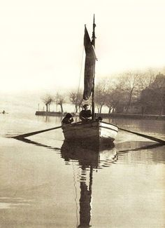 Pamvotida lake, Ioannina (photo by Voula Papaioannou) Greece Map, Athens Greece, Old Photos, Vintage Photos, Paradise, Around The Worlds, Black And White, Landscape, Pictures