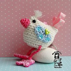 Crochet pattern - bird - hanger / pendant / key chain, DIY
