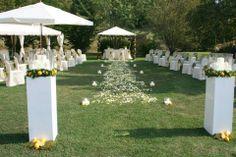 decorazione floreale di un matrimonio