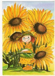 sunflowers illustration