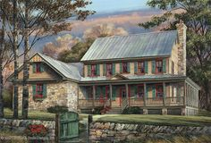 Cottage House Plan with 3039 Square Feet and 5 Bedrooms from Dream Home Source | House Plan Code DHSW68477