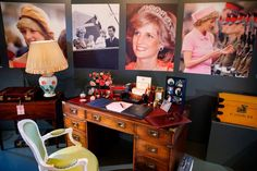Prince William and Harry Recreated Diana's Desk in Her Honor, and It's Full of Personal Photos