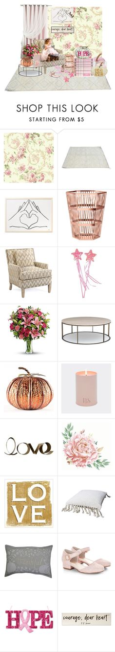 """""""I Wear Pink For A Cure!"""" by jjantiq ❤ liked on Polyvore featuring interior, interiors, interior design, home, home decor, interior decorating, Ghidini 1961, Best Home Fashion, John-Richard and PBteen"""
