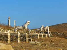 Lions Terrace, Delos #mysteriousgreece