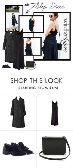 """slip dress"" by bodangela ❤ liked on Polyvore featuring Bill Blass, E L L E R Y, Alexander Wang, women's clothing, women's fashion, women, female, woman, misses and juniors"