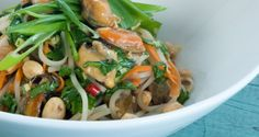 Sake and Lemongrass-Steamed Mussels with Noodles and Peanut ...