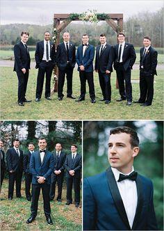 Classic black and white groomsmen @weddingchicks