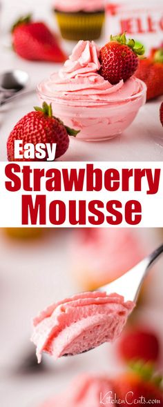 Strawberry JELL-O Mousse Strawberry JELL-O Mousse Rachel Koller Kitchen Cents mykitchencents Sweet Treats 038 Baked Goods Strawberry mousse recipe that tastes so nbsp hellip Cupcake with jello Strawberry Blueberry Smoothie, Strawberry Mousse Cake, Strawberry Frosting, Strawberry Mouse, Low Sugar Recipes, Jello Recipes, Smoothie Recipes, Recipies, Cake Filling Recipes