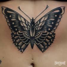Resultado de imagem para butterfly tattoo old school