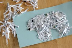 Winter animals made from shredded paper ~ Make & Takes Winter Fun, Winter Theme, Artic Animals, Penguins And Polar Bears, January Crafts, Bear Theme, Classroom Fun, Animal Crafts, Preschool Crafts