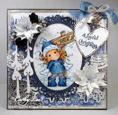 Magnolia Winter Card from Cathy's Creative Place: Winter Theme at Magnolia-licious