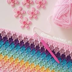 Corner To Corner Knitting Blanket Diy Crochet Patterns, Crochet Diy, Crochet Afghans, Knitting Patterns, Crochet Seed Stitch, Crochet Stitches, Crochet Blanket Tutorial, Blanket Crochet, Crochet Simple