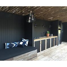 Lay back in our shade shack and watch the sun filter through. #bliss #summer #shadeshack #byronbay @ebbnflowstudio cushions by @palmbeachblack