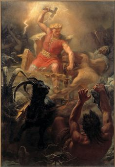 Marten Eskil Winge - Thor's Fight with the Giants, 1872