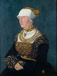 Hans Abel the Younger (1506-1567) — Portrait of Felicitas von Wallbrunn, 1539 : Mittelrhein-Museum, Koblenz. Germany (519x700)