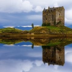 Castle Stalker, Loch Laich, Scotland  photo via jackie