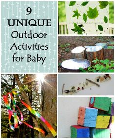 Wondering what to do with baby outside? These are great activities and DIYs for baby!