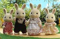 Flair Toys Sylvanian Families - Buttermilk Rabbit Family -  The sign writers of Sylvania - their biggest job was the Brambles Department Store. Oliver and Alex  http://www.comparestoreprices.co.uk/childrens-gifts/flair-toys-sylvanian-families-buttermilk-rabbit-family-.asp