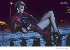 Stella Maxwell Wears Nighttime Fashions lensed by Geoff Barrenger & Styled by Cary Tauben