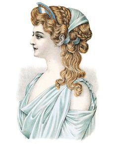 artist's impression of an ancient greek hair style