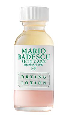 Best overnight acne zapper. Just dip a Qtip in (don't shake it up) and apply to blemish - usually gone by morning!Maria Badescu Drying Lotion
