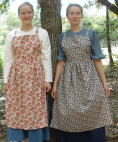 Very nice! These remind me of traditional Russian/Ukrainian aprons, worn over dresses (or as sundresses in the modern world). Folkwear has a pattern for these.
