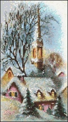 This design requires whole counted cross stitch only, stitched on any count fabric and requires DMC™. Stitch count 80 x 144.