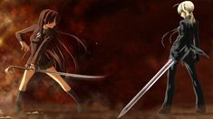 Anime other wallpapers sword fighting girls savers screen wallpaper images top