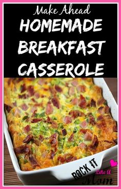 This Homemade Breakfast Casserole has saved the day on more than one occasion in our house! Easy, and perfect for feeding a large group!
