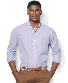 Polo Ralph Lauren Striped Poplin Shirt | macys.com
