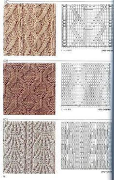 Японская книга узоров (спицы) 027