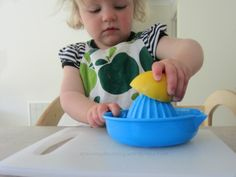 Montessori Practical Life - Learning to Squeeze {An Everyday Story}