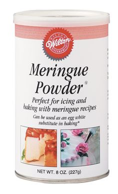 """Amazon.com: Wilton Meringue Powder, 8 oz Can: Decorating Tools: Kitchen & Dining - this stuff here is a MUST if you are making your own butter cream icing without it your icing is """"mushy"""" and loose.  With it, makes it like the bakery does - stiff and holds your forms beautifully.  Love this stuff!"""