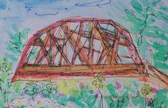 "Kane Rd. Enosburg, Watercolor on Paper, 4"" x 6"", 2005"